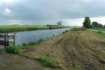 Stream in Groningen province deepened to drain the surrounding land.